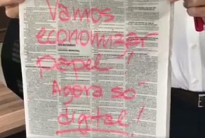 Diário Oficial de SP deixará de ter versão impressa, anuncia Doria