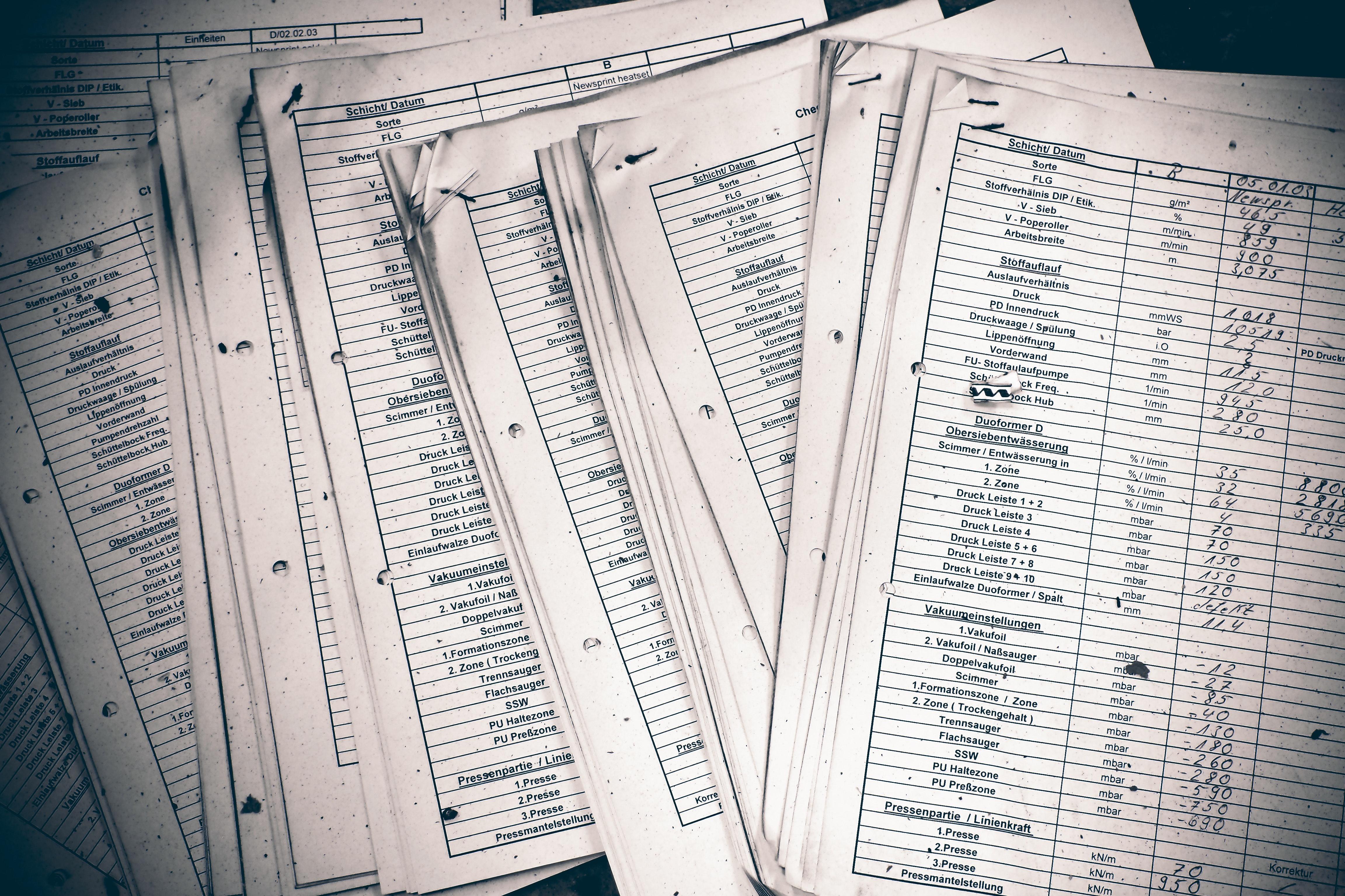 Arquivos necessitando serem revisados muitas vezes